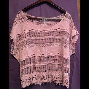 Kirra Shirt. Large. Mauve color